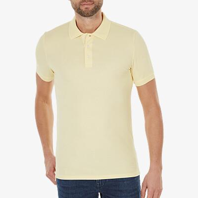Marbella Slim Fit Poloshirt, Light yellow
