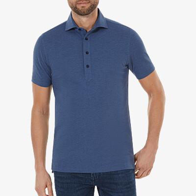 Lagos Poloshirt, Jeans melange