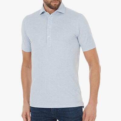 Lagos Poloshirt, Licht blauw melange