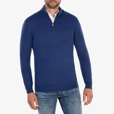 Aspen Half Zip, Jeans Blue