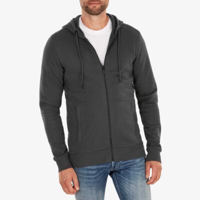 Denver Full Zip hoodie, Donkergrijs