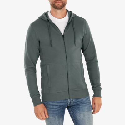 Denver Full Zip hoodie, Metal green