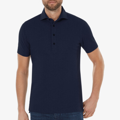 Lagos Poloshirt, Navy melange
