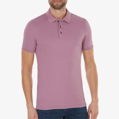 Marbella Slim Fit Poloshirt, Purple grape
