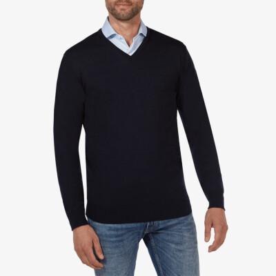Kingston v-neck pullover, Navy