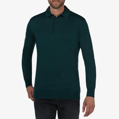 Wellington polo pullover, Dark green