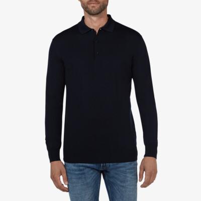 Wellington polo pullover, Navy