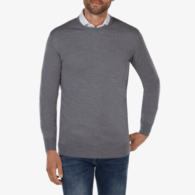 Ontario Crewneck pullover, Mid grey