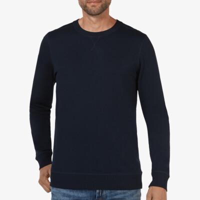 Lange navy ronde hals regular fit Girav Princeton Light sweater voor mannen