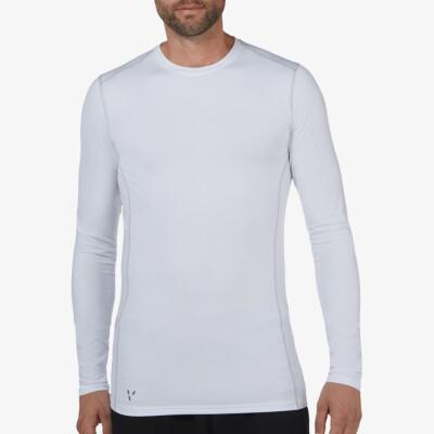 Lang wit Thermo shirt voor mannen. Girav St. Anton, Nanotechnologie, Ronde Hals, Slim Fit