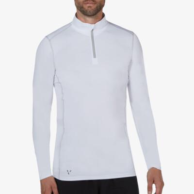 Serfaus zip Thermoshirt, White