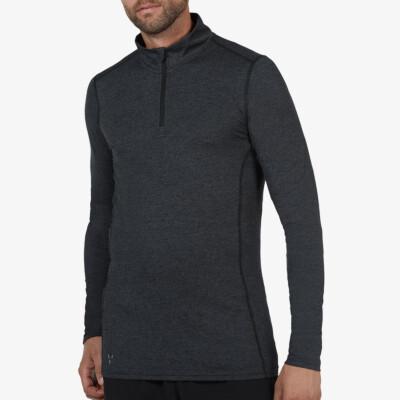 Serfaus  Zip Thermoshirt, Black Melange