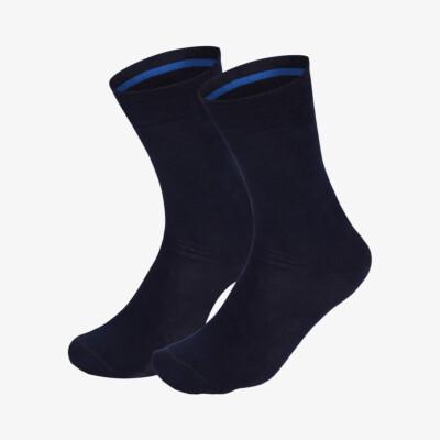 Navy lange naadloze comfortabele Girav Oxford mannen sokken