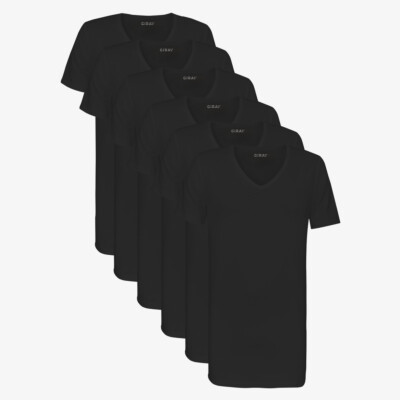 SixPack Hong Kong T-shirts, 6-Pack Black