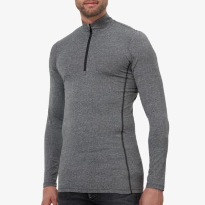 Serfaus  Zip Thermoshirt, Antracite Melange