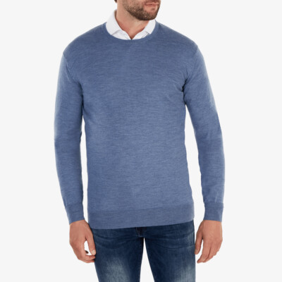 Ontario Crewneck pullover, Light Jeans melange