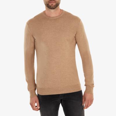 Ontario Crewneck pullover, Taupe melange