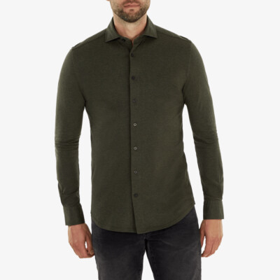 Palermo Piqué Shirt, Dark green melange