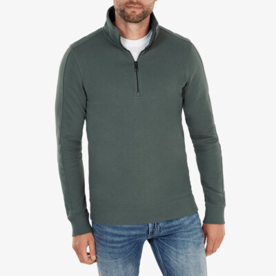 Yale Half Zip, Metal green